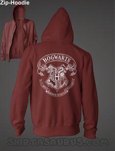 Harry Potter Hogwarts Zip Hoodie