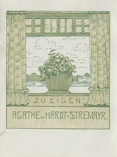 Bookplate of Agathe v. Hardt Stremayr, by Pratt Libraries on Flickr