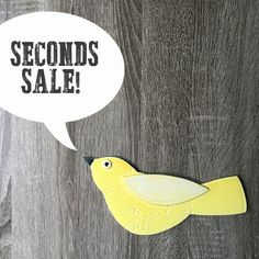 SECONDS SALE porcelain wall birds! by potteryandtile on Etsy