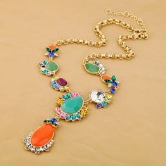 Colorful Artificial Gemstone Necklace