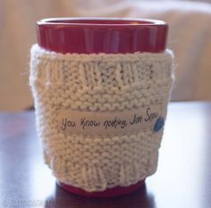 Game of Thrones Cup Cozy Mug Sweater Mug Cozy by CoonsKreations, $10.97