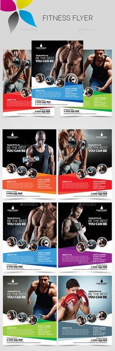 Fitness Flyer Template PSD #design Download: http://graphicriver.net/item/fitness-flyer/13786688?ref=ksioks