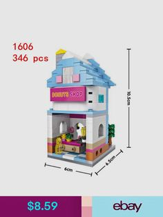 LOZ Street Pizzeria Ice Cream Food Restaurant DIY Mini Blocks Nano Building Toy