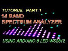 Tutorial 14 Band Spectrum Analyzer using Arduino & Arduino Laser, Arduino Wifi, Arduino Programming, High Tech Gadgets, New Gadgets, Arduino Beginner, Plant Watering System, Spectrum Analyzer, Nanotechnology
