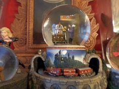 Harry Potter water globe music box with moving train.  From good friend Jason Hale.