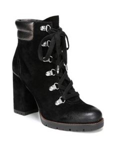 24bb23e1c Sam Edelman Women s Carolena Heel Lace Up Hiker Boot - Black Pewter - 8.5M