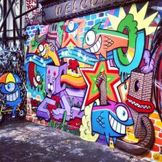 Brick Lane. London <3 (you could graffiti anywhere legally, so there was some of the most amazing street art on brick lane, i will post my own photos soon)