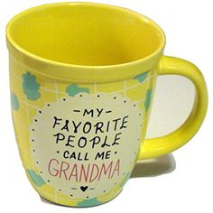 My Favorite People Call Me GrandmaMug by About Face Designs - 13 Oz -- Check out this great product. (This is an affiliate link) #GlasswareDrinkware