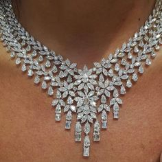 Diamond Necklaces : wedding season soon the bridal sets are in @nsoulijewelry