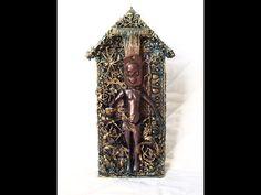 """Handmade by Yulianna: Mixed Media """"Skeleton house"""" For LSG"""