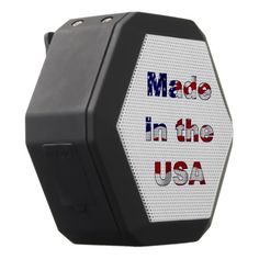 Made in the USA Black Bluetooth Speaker