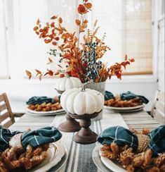FALL DECOR: is celebrating their upcoming Fall Fest next weekend, September and from They'll have cider, homemade donuts, and specials on their gorgeous fall decor, like this tablesca