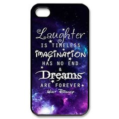 galaxy nebula disney quotes for iphone 4 4S 5 5S 5c Hard Plastic black case