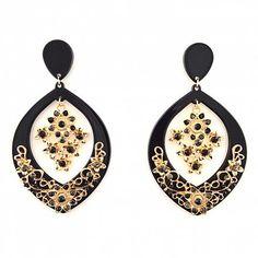 Chandelier Ohrringe BOHEMIEN schwarz von TRENDOMLY JOLIE Bijouterie Earrings Jewelry