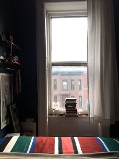 A Teeny-Tiny (50 Square Foot!) Bold, Blue Bedroom in Brooklyn — Favorite Rooms