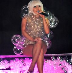 Lady Gaga bubble dress