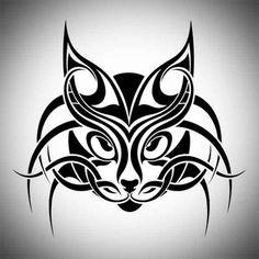 Tribal Cat Tatoo Designs