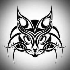 Tribal Cat Tatoo Designs