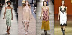 Portal UseFashion - Semana de Moda de Paris - Peças chaves - sleep dress - rendas detalhes - tons neutros x tons vibrantes