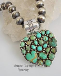 Rocki Gorman Large Southwestern Turquoise at Schaef Designs Jewelry in New Mexico