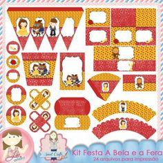 Kit Festa A Bela e a Fera by Ana Cristina e Lu Ifanger