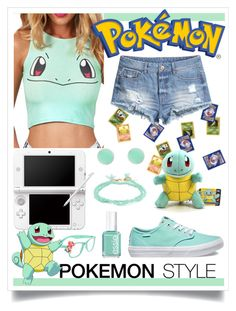 """Pokémon Style"" by randomgirl3269 ❤ liked on Polyvore featuring Nintendo, claire's, H&M, Vans, 14th & Union, Shashi and Essie"