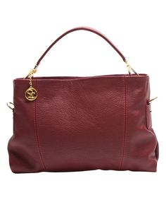 Loving this Rosso Convertible Leather Crossbody Bag on #zulily! #zulilyfinds