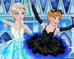 Em Elsa e Anna Bailarinas Fashion, as irmãs Frozen: Elsa e Anna amam o balé e por isso se tornaram bailarinas. Hoje elas têm uma importante apresentação e precisam de sua ajuda para se preparar para o show. Ajude as irmãs Frozen, Elsa e Anna se prepararem para sua apresentação de balé. Divirta-se com Anna e Elsa!