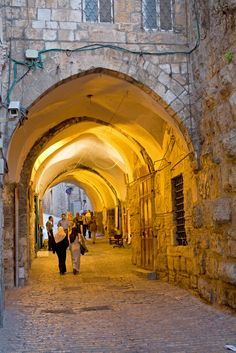 A street in the Arab Quarter in the Old City of Jerusalem, Israel