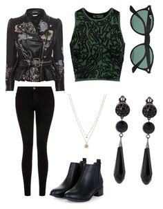 """""""suggested"""" by elliemack19 on Polyvore featuring Ray-Ban, Alexander McQueen, Opening Ceremony, Givenchy, Current/Elliott, LC Lauren Conrad, women's clothing, women, female and woman"""