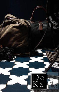 Handmade floor tiles from DeKa Tiles