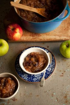 Spicy Apple Chutney with Malay Spices and Raisins ] Made with: apples ...