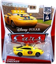 "Disney / Pixar 2013 CARS 2 Movie 155 Die Cast Car CHARLIE CHECKER by Mattel. $11.99. For Ages 3 & Up. 2013 Disney Cars "" Charlie Checker. 1:55 Scale Diecast Car. Collect them all!. All your favorite characters from the Disney Pixar film, CARS 2, in 1:55th scale. With authentic styling and details, these die cast characters are perfect for recreating all the great scenes from the movie. Collect them all!"