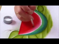 Artist Painting, Art Pictures, Watermelon, Origami, Fruit, Ideas Para, Pasta, How To Make Paint, Painting Tips
