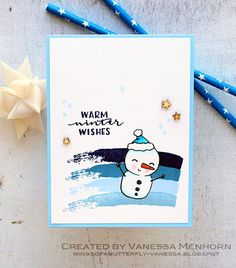 Hello and welcome! Today I am excited to be one of the stops of Taheerah Atchia& Advent Calendar Extravaganza :) Advent Calendar. Christmas 2017, Winter Christmas, Winter Holidays, Christmas Cards, Snowman Cards, Card Maker, Butterfly Wings, Advent Calendar, Merry