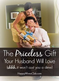 It can be a challenge figuring out ways to celebrate our husbands. Here's a priceless gift for your husband that won't cost you anything to make!