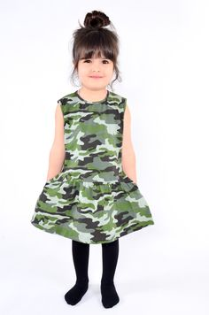 camo dress# little girl# kids fashion# WADERA
