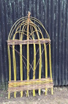 Panel I wove with green willow