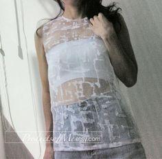 white see through organza blouse fashion white by productsofme, $12.00