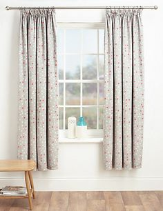 Smudge Spotted Printed Pencil Pleat Curtains | M&S