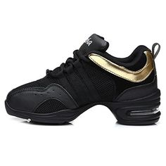 Roy-mall Roymall Men and Women's Modern Jazz Soft Leather PU Mesh Dance Sneaker Shoes, Dance-sneakers Model B5
