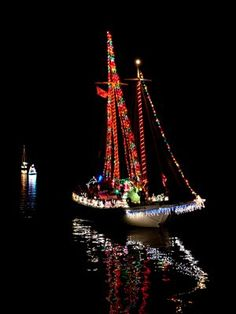 Dog River Boat Parade. the Fleet Blessing takes place every year in Bayou La Batre, Alabama