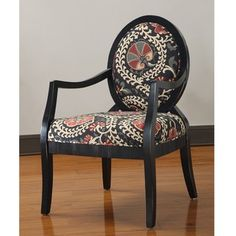 @Overstock - Malibu Accent Chair. Make a bold statement with this unique accent chair from Malibu. Its chic black outline and background is accented by a curvaceous red and butter yellow pattern, making this a great piece to accentuate the beauty of your home.http://www.overstock.com/Home-Garden/Malibu-Accent-Chair/6432826/product.html?CID=214117 $174.99