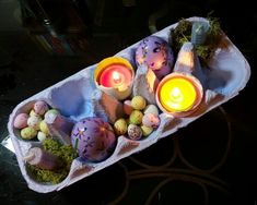 beautiful Ostara altar using egg carton! will do this for the kids for easter morning perhaps? Pagan Calendar, Vernal Equinox, Altar Decorations, Beltane, Book Of Shadows, Spring, Creations, Recipes, Sick