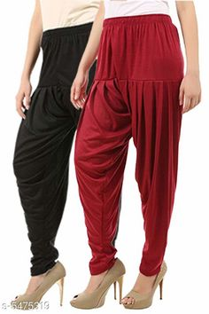 Ethnic Bottomwear - Patiala Pants Stylish Women's Patiala Pants Fabric: Cotton Viscose Size: XL - 34 in  XXL - 36 in  Length: Up To 40 in Type: Stitched Description: It Has 2 Pieces Of Women's Patiala Pants Pattern: Solid Country of Origin: India Sizes Available: 32, 34, 36, 38, 40, 42, 44, 46   Catalog Rating: ★3.9 (241)  Catalog Name: Women Patiala Pants CatalogID_816789 C74-SC1018 Code: 373-5475319-609