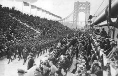 George Washington Bridge. Parades and celebrations on opening day. October 24 1931. New York.