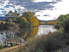 A great place to view the Devil Jet boat ride on the Derwent River from New Norfolk.