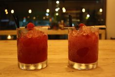 Red berries Caipirinha