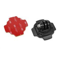 2pcs 360 Degree Rotate Go pro Helmet Curved Adapter + 2pcs 3M sticker Mount For GoPro Hero 5/4/3+/3/2/SJ4000 SJ5000 Xiaomi YI  #Affiliate