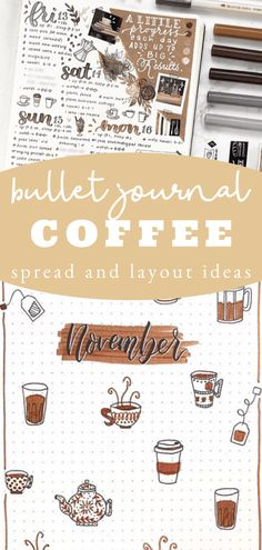 You are going to love this fall theme idea! COFFEE! Really is would be good anytime of year though, lets be honest! Click through to see some stunning bullet journal inspiration! bullet journal theme ideas / bullet journal monthly theme / bullet journal simple doodles / bullet journal ideas september / bullet journal themes october / bullet journal theme idea november December Bullet Journal, Bullet Journal Monthly Spread, Bullet Journal Themes, Bullet Journal Inspiration, Calendar Layout, Monthly Themes, Simple Doodles, Autumn Theme, Day